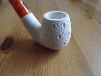 Standard Turkish Sitting Lattice Meerschaum Tobacco Pipe