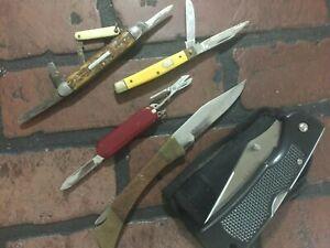 Lot Of Junk Pocket Knives Parts Or Repair
