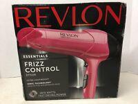 Revlon 1875 Watt Frizz Control Lightweight Hair Dryer Ionic Styler, Pink