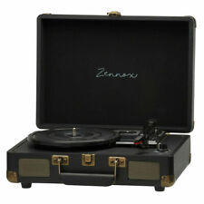 Zennox G0395 Portable Briefcase Turntable - Black