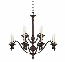 Savoy House 1-1728-12-13 Chandelier with No Shades, English Bronze Finish