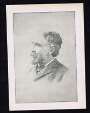 Charles Dudley Warner, American essayist- Antique Portrait Print 1896
