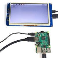 "7"" USB Resistive Touch Screen LCD Display 800x480 HDMI For Raspberry Pi B+/Pi2"