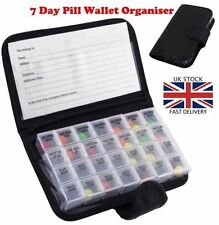 SEVEN 7 Day Weekly & Daily Jumbo Large Pill Box with 28 Compartments AM PM UK P4