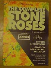 The Complete Stone Roses + Definitely Oasis.. Glasgow nov.2016 gig poster