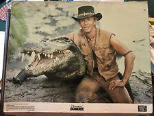 """Crocadile Dundee 1986 20th Century Fox 11x14"""" lobby card Paul Hogan"""
