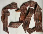 """Very Good Antique Flat Weave Tent Bands 3 Sections, 3 1/4'' x 170"""" total"""