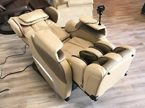 Cream Osaki Titan TI-7700 Massage Chair Zero Gravity Recliner with Heat