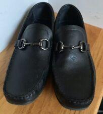 Joseph Aboud Loafers Driving Mocs 11M black Leather Boho Retro Classic