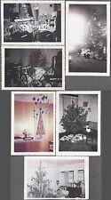 Lot of 6 Vintage Photos Bicycle Bike Radio Flyer Wagon Christmas Tree 735564