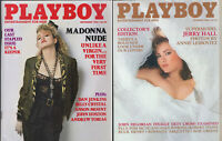 PLAYBOY Lot of 2 -September and October 1985 - Madonna Nude, Jerry Hall