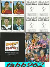 Set Completo Aggiornamenti Calciatori 2005/2006/06 Panini  Ⓒ