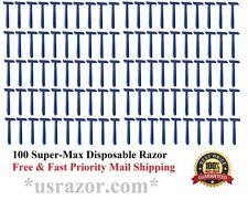 100 Supermax Disposable Razors Twin Blades Compare to Gillette Schick Razor 10