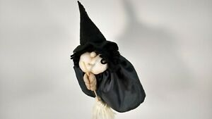Wicked Witch Stocking Face Good Luck Kitchen Witch Oooh..Peek Under Her Skirt!!