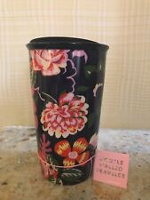 2018 New Starbucks Ban.Do Double Wall Ceramic Floral Tumbler 12 oz Now In USA!
