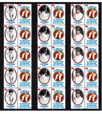 STEVE WAUGH 10,000 TEST RUNS SET OF 3 MINT CRICKET STAMP STRIPS OF 10