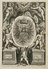 PAR LES VERTUS CARDINALES fresque Autriche. aigle blason, 18. XVllle, kupferst.