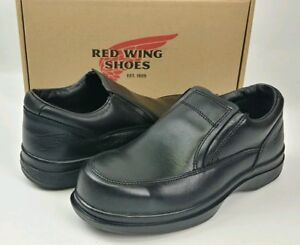 Red Wing Mens Steel Toe Electrical Hazard Black Leather Shoes USA 6646, 7.5 EE
