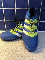 Adidas Astro Turf Sock Tongue PRB 698001 UK 9 EU 43.5 US 9.5 Blue Green White