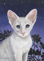 "Cats ""Siamese"" Limited Edition Fine Art Print- Original Painting by S Barratt"
