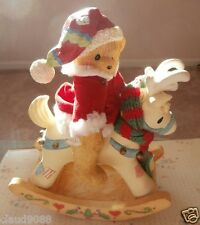 "CHERISHED TEDDIES ""BEAR ON ROCKING HORSE MUSICAL"" 629618 MINT IN BOX"