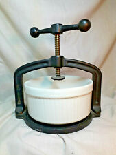 Spindle Screw MB Meat Press, Bowl and Press Plate, Heavyweight designed for use