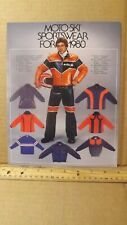 Vtg 1980 Moto-Ski Snowmobile Sportswear Accessories Brochure Suits Helmets Etc