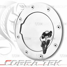 Cobra Tek For Chevy GMC Key Lock Chrome Plated Aluminum Fuel Gas Door
