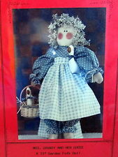 "Finders Keepers Vtg 80s cloth folk doll pattern rag doll 15"" Mrs Grundy & Goose"