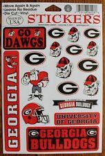 18 University of Georgia Bulldogs Decal Stickers Dawgs NCAA College Football Lic