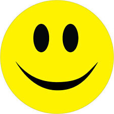Smiley face autocollants x 6 pare-chocs autocollants en vinyle-différentes tailles