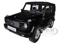1998 MERCEDES G500 G CLASS SWB BLACK 1/18 DIECAST CAR MODEL BY AUTOART 76111