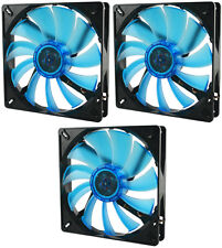 3 x Gelid Solutions WING 14 UV BLU 140mm Ultraviolet reattiva silenziosa Case Fan