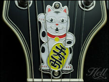 """Maneki Neko"" Diecast Truss Rod Cover. Fits most Gibson Les Paul, SG & others."