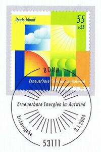 Frg 2004: Renewable Energy No. 2378 With Bonner First Day Special Cancellation