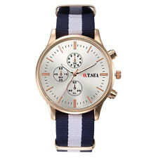 Men's Quartz Watch Classic Cambridge style Nylon Strap Unisex Christmas Gift UK