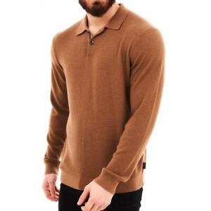 Ted Baker Mens Batha LS Polo Shirt (Camel)