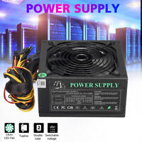 🔥 Quiet PC Power Supply ATX 12V Gaming PSU+LED Fan For Desktop Computer