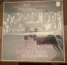 bach brandenburg concertos PHILLIPS MARRINER DART SEALED LP SET 1st Vers Rec.MN+