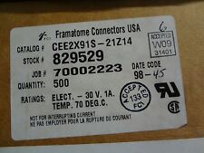 FRAMATONE Part #CEE2X91S-21Z14, CONN CARD EDGE 2X91, Date Code 98+, 10 pcs
