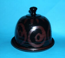 Alvingham Studio Pottery (Pru Green) - Attractive Cheese Dome Waxed Relief Swirl
