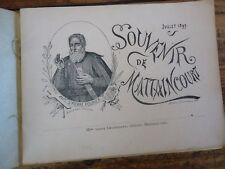 LORRAINE  SOUVENIR DE MATTAINCOURT SAINT PIERRE FOURIER 1897 VOSGES