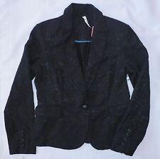 WILLOW AND CLAY women jacket blazer Jacquard lace pattern SIZE M black