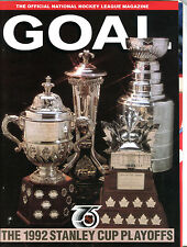 Goal The Official NHL Magazine Capitals vs. Penguins 1992 Program EX 052616jhe
