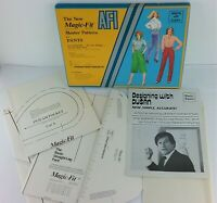 AFI The New Magic-Fit Master Pattern For Pants Designing with DUSAN Kit Vtg NEW