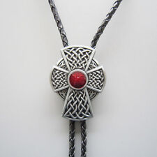 Men Western Cowboy Cowgirl Bolo Tie Cross Knot Celtic Necklace also US Stock