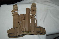 USED BLACKHAWK TACTICAL THIGH SERPA HOLSTER COYOTE P220 226 228 229 SIG SAUER