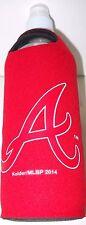 ATLANTA BRAVES 18-OZ. RED PLASTIC TRAVEL WATER BOTTLE W/ TWIST TOP & ATTACHMENT*