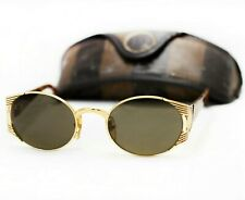 FENDI FS 241 sunglasses vintage gold brown oval glasses baroque 90s