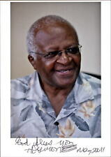 Desmond Tutu *UH* Friedensnobelpreis original signiert signed Foto NEU 5930